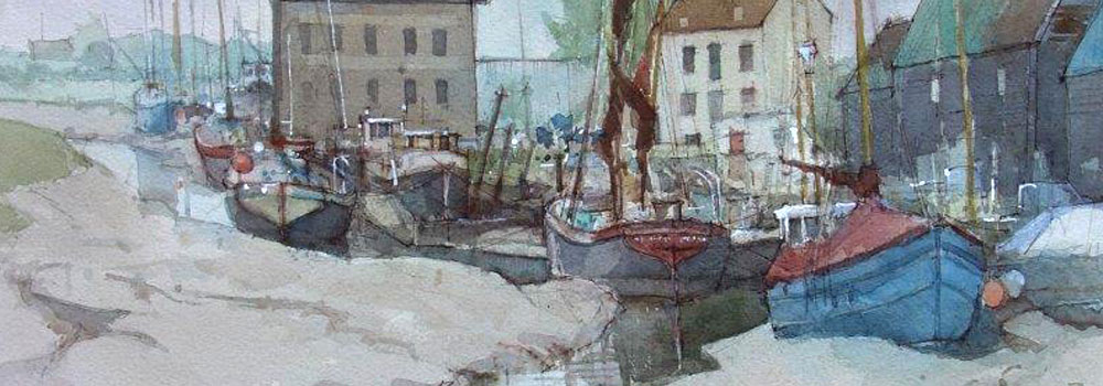 Painting by one of the Wapping Group of Artists