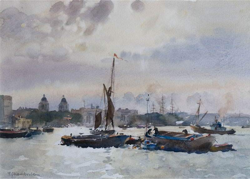 Trevor Chamberlain Member Of The Wapping Group Of Artists